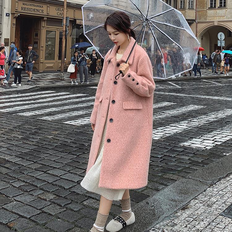 2019秋冬 レディース アウター ロングコート 無地