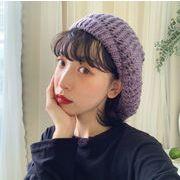 秋冬新作 帽子 ベレー帽 レディース レトロ ふんわり 韓国ファッション
