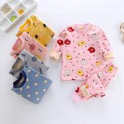 秋冬新作 ルームウェア キッズパジャマ  長袖 韓国子供服 パジャマ 可愛いふわもこ ボア5色
