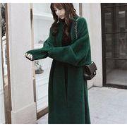 韓国ファッション ロングコート クラシックスタイル