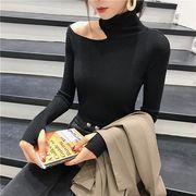 韓国ファッション スリムニット トップス