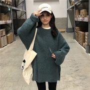 韓国ファッション ゆったりトレーナー シンプルコーデ