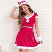 1049サンタ4点セットクリスマス サンタコスチューム キャバドレス