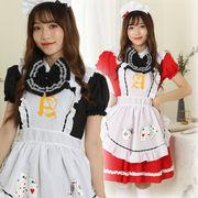 【即日出荷】2色 メイド服  コスプレ衣装 【7822】