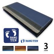 全3色 HANG TEN ハンテン リアルレザー トリコロールカラー 2つ折り 長財布 ロングウォレット