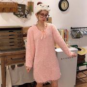 第1 番 ピープル ホーム 秋 女性服 年 新しいデザイン 韓国風 王女 ナイトドレス