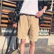メンズ 夏 ズボン ファッション ワイドパンツ 百掛け ショートパンツマスタード