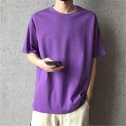 2019 夏 ゆったりする 半袖 Tシャツ ボーイ 男の子ファッション トップス パープル
