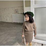2019冬新品★子供ファッション★2点セット★セーター+ニットスカート★ニット服★女の子★3色80-130