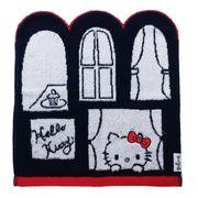 【ハンドタオル】ハロキティ ジャガード ウォッシュタオル 窓とキティ