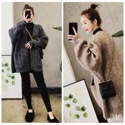 【即納 731377 大きいサイズ 韓国 モコモコ暖かい ファッション カーディガン  ボレロ   LL-4L