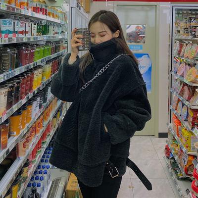 デザイン 感 中長スタイル アウターウェア 韓国風 レジャー ルース 着やせ 模倣します