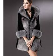 冬 欲しかったあの商品 模造毛皮カジュアル ファーコート キツネの毛皮 百掛け 防寒 通勤 フード付きコート