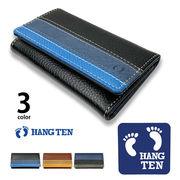 全3色 HANG TEN ハンテン リアルレザー トリコロールカラー キーケース キーホルダー キーホルダー