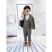 正月 裏起毛 キッズ スーツセット  男の子 フォーマルスーツ 3点セット 発表会  身長90-140cm