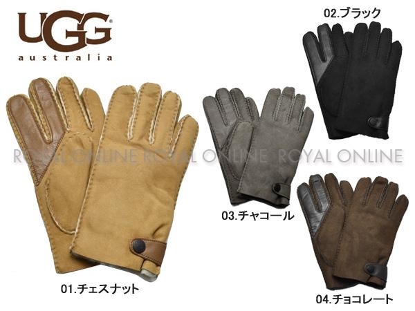 S) 【アグ】 手袋 18713 シープスキン サイドタブ テック グローブ 全4色 メンズ