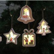 クリスマス飾り LEDライト ランプ 木製チャーム オーナメント Christmas限定 デコレーション 装飾