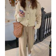 韓国ファッション シンプルスタイル セーター ニット カーディガン