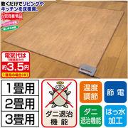 日本製 木目調フローリング ホットカーペット 1畳用 2畳用 3畳用