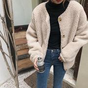 韓国ファッション もこもこボアジャケット