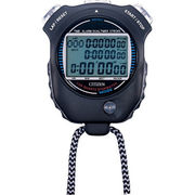 リズム時計 シチズン ストップウオッチ 防滴タイプ(JIS防滴II型) 多機能モデル(黒)
