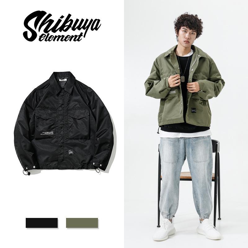 ジャケット スタンドカラー メンズ プリント ジュアル 厚手 SALE 2019秋冬新作 ファッション