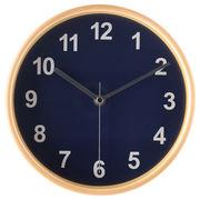 掛け時計 プライウッド Φ22cm ネイビー