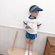 超人気トップスキッズ半袖シャツ半ズボン涼しいカジュアルセット韓国子供服夏服新作