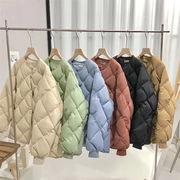 売れ筋カラー追加!韓国 冬 キャンディーカラー ラウンドネック 長袖 暖かい 厚手 短いスタイル トップス