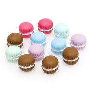 20個 デザート マカロン 立体 ミニ 1.2cm*1.5cm カポション 樹脂 髪飾り 封入パーツ デコパーツ