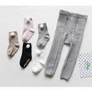 子供パンツ 秋冬新作 ベビー レギンス+靴下 女の子 男の子 ボトムス 0-4歳 可愛い