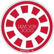 【ステッカー】アベンジャーズ4 エンドゲーム[ビッグシール]ラバーステッカー I LOVE YOU 3000 B