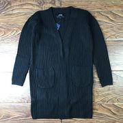 秋 新しいデザイン  コート 男 中長スタイル ルース ボタンなし 男 ニットカーディガ