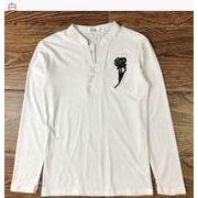 男 長袖Tシャツ 着やせ ボトムシャツ 十代の若者 男性服装 Tシャツ トップス セータ