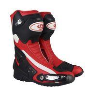 オートバイ ブーツ スピード バイカー レース バイク モトクロス 靴 ツーリング  膝丈 ライディンレッド
