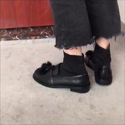 ブーツ 女 秋 新しいデザイン 韓国風 ストレッチ スリーブ ブーツ下付き ブーツ フラ