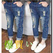 新作★子供服★女の子★ジーンズ ★デニムズボン★カジュアルパンツ  7-15
