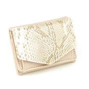 クロコ 三つ折り財布 ミニ財布 [サラ] / レディース コンパクト