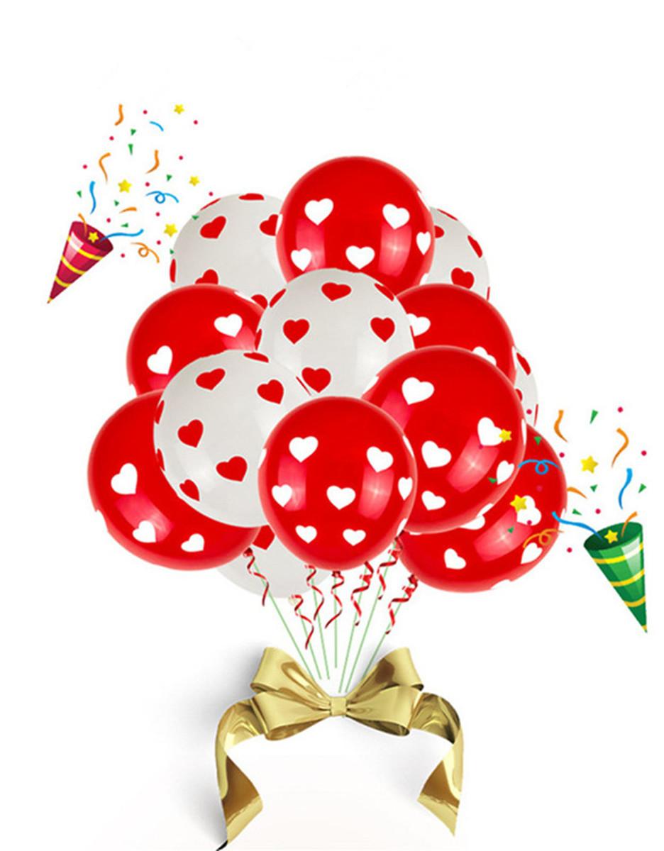 風船 バルーン 12インチ風船 ハート柄風船 バレンタイン イベント パーティー お祭りに♪ 約100個入り