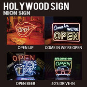 【HOLLYWOOD SIGN】NEON SIGN ネオンサイン【COME IN WE ARE OPEN他】