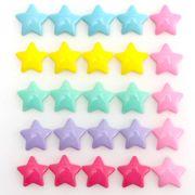 10個 樹脂パーツ シンプル 星 ネオン 選べる6色 カポション ピアス 髪飾り デコ電 封入 デコパーツ