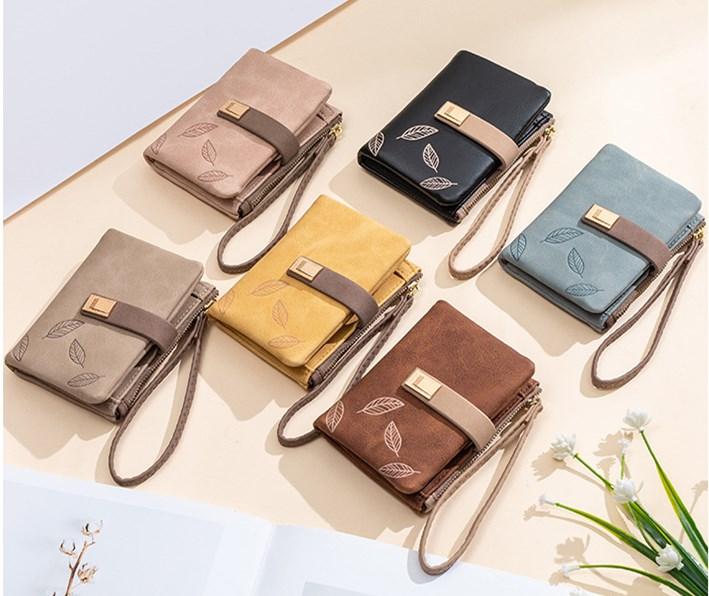 二つ折り財布 レディース 短財布 大容量 小型 軽量