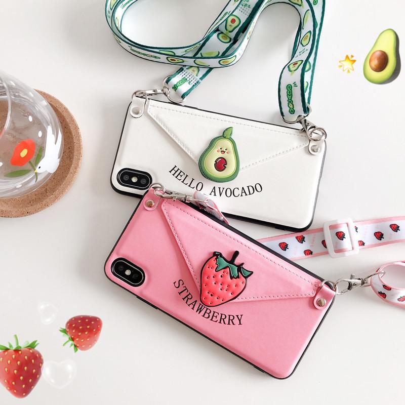 カード収納 iPhoneケース 果物 iphone12 iphone11pro max保護カバー