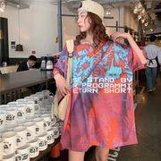 春夏新作 732140大きいサイズ 韓国 レディース ファッション    Tシャツ   LL-4L