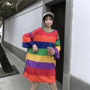 春夏新作 732127大きいサイズ 韓国 レディース ファッション    Tシャツ   LL-4L