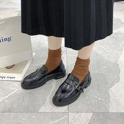 靴 女靴 春 新しいデザイン ワイルド黒 小さな靴 女性英国スタイル アンティーク調 ス
