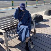 初回送料無料 2019 デニム ゆったり ワンピ 大人気 vxbbw-1912bui67秋冬 新作