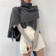 とてもファッション 秋 ゆったり スカーフ ストール セーター レトロ 大人気 怠惰な風 ハイウエスト