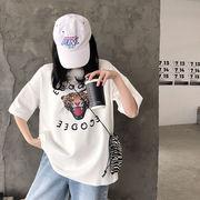 春夏新作 732174大きいサイズ 韓国 レディース ファッション    Tシャツ   LL-4L