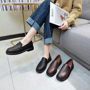 靴 女靴 春 新しいデザイン 小さな靴 女性英国スタイル 厚底 2way スリップ ロー